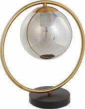 Tischlampe Gold / Schwarz Metall 35 cm