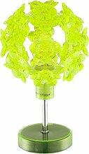 Tischlampe Grün Blüten Nachttischlampe