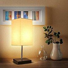 Tischlampe Holz,Nachttischleuchte,Stoff
