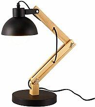 Tischlampe, Holzschaukel Arm Schreibtischlampe,