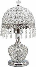 Tischlampe, im europäischen Stil Crystal Lampe Fernbedienung Schalter, Wohnzimmer Schlafzimmer Bedside Lampe Schreibtischlampe ( farbe : Silber )