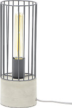Tischlampe Industrial aus Metall Zementfundament