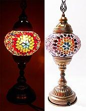 Tischlampe Lampe Orientalisch Türkei Mosaiklampe Orient 1001 Nacht 37 cm (normal stern)