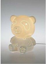 Tischlampe, Leuchte PANDA H. 19,5cm D. 16cm weiß
