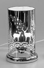 Tischlampe, Leuchte Zylinder TOUCH mit Hirschen H.