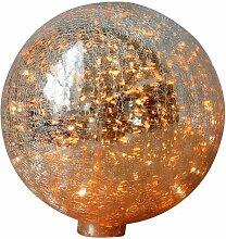 Tischlampe mit 20 cm gebrochener quecksilbriger