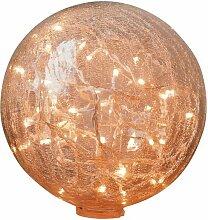 Tischlampe mit 25 cm gebrochener Glaskugel