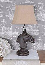 Tischlampe Pferd Lampe Kolonialstil Tischleuchte Pferdekopf Leuchte Palazzo Exclusiv