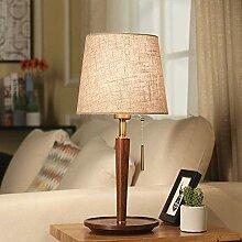 Tischlampe Schlafzimmer Nachttischlampe Leinen