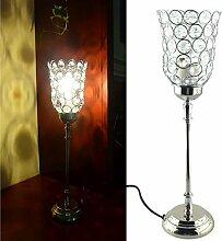 Tischlampe Silber Tischleuchte Nachttischlampe