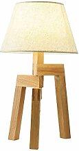 Tischlampe Stoff Nachttisch-Leuchte Textil