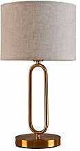 Tischlampe Textil Tischleuchte Nachttisch-Leuchte