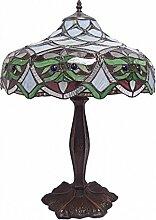 Tischlampe Tiffany Bunt Buntglas Blume Nachttischlampe Lampe Jugendstil Deko