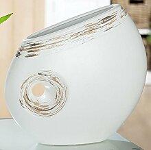 Tischleuchte 'Pokallampe', groß, 32 cm, creme