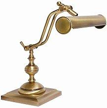 Tischleuchte Antik Bronze Echt-Messing Verstellbar