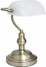 Tischleuchte Antique Bankerlampe