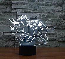 Tischleuchte Dinosaurier visuelle Lampe LED Acryl