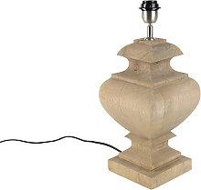 Tischleuchte im Landhausstil ohne Lampenschirm