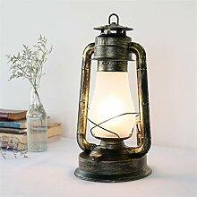 Tischleuchte Kerosin Lampe Vintage industrielle