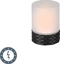 Tischleuchte mit Flammeneffekt inkl. LED Solar