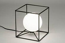 Tischleuchte Modern Glas Mit Opalglas Metall