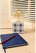 Tischleuchte Mosaik blau Muster Beton Tischlampe