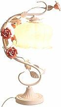 Tischleuchte Ron Lampe Romantische Rose Blume Pastorale Prinzessin Schlafzimmer Bett Warmes Licht , white