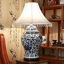 Tischleuchte/Schlafzimmer-bett,Creative Handgemalten,Blue,Ländlichen,Wohnzimmer-lampen