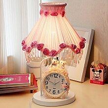 Tischleuchte/Schlafzimmer,Bett,Die Rote Uhr/Nightlight/Ländlichen,Kreative,Mode,Stoffe,Hochzeitsgeschenke-A Dimmer switch
