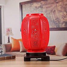 Tischleuchte/Schlafzimmer,Bett,Kreative,Klassischen,Chinesische Art,Living Room,Dekoration,Haushalt Lampen/Hochzeit,Rote Laterne Lampe