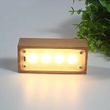 Tischleuchte Solide Holz LED Nachtlicht kreative