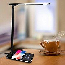 Tischleuchte Tisch Schreibtisch LED Lampe Licht Qi