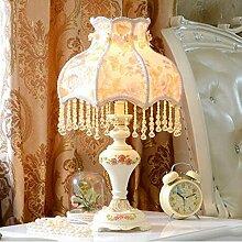 Tischleuchte Tischlampe Dekoration Europäische Tischlampe Hochzeit Tischlampe Luxus Retro Tischlampe American Pastoral Lampe Nachttischlampe