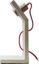 Tischleuchte Tischlampe Edge Beton grau