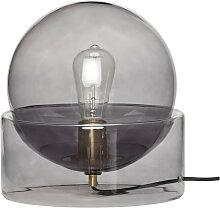 Tischleuchte Tischlampe Meduse Glas grau