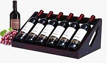 Tischplatte Weinflasche Aufbewahrungsschlitze