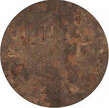 Tischplatte Werzalit Rostbraun 80 cm rund