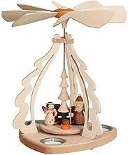 Tischpyramide Bescherung f. 3 Teelichter, natur