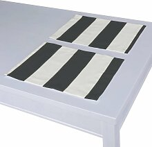 Tischset 2 Stck., schwarz-weiß, 30 × 40 cm,