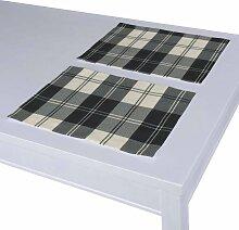 Tischset 2 Stck., schwarz- weiss, 30 × 40 cm,