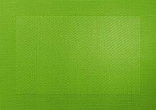Tischset -apfelgrün- 33x46cm mit gewebtem Rand