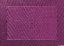 Tischset - aubergine - 33x46cm mit gewebtem Rand