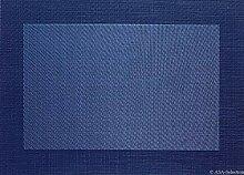 Tischset - dunkelblau- 33x46cm mit gewebtem Rand