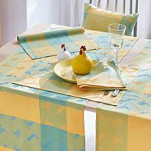 Tischset: Farbenfrohe Hasen-Tischwäsche