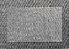 Tischset - grau - 33x46cm mit gewebtem Rand