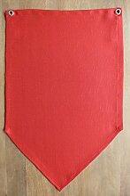 Tischset / Tischläufer / Platzset / Set-Läufer, hochwertig (Wimpelform) mit Ösen zum Zusammenschnüren, mit Fleckschutz, pflegeleicht, rot, Unikate, ELEGANTABLE