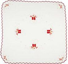 Tischset Weihnachten weiße Linie Santa Klaus 100%