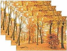 Tischsets 12 x 18 Zoll, 4er-Set, Herbst Ahorn Baum