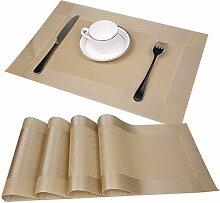 Tischsets 4er Set Tabellenplatzmatten Abendessen
