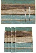 Tischsets aus Holz, 4 Stück, für Küche,